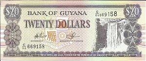 Cédula Guiana 20 Dollars FE - Twenty Dollars