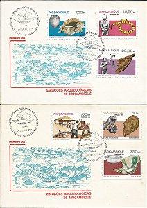 Envelope Primeiro Dia de Circulação Comemorativo Moçambique com Selo e Carimbado Lote com 19 Envelopes