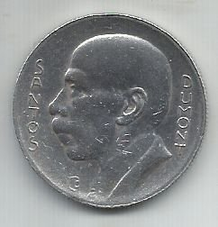 Moeda Brasil 5000 Réis 1936 Prata Santos Dumont