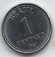 Moeda 1 Centavo Cruzado 1987 - FC - Flor de Cunho - data difícil