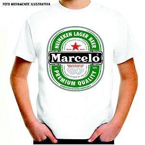 Camisa Divertida - Heineken (VOCÊ ESCOLHE O NOME MUDAR)