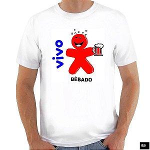 Camiseta Frase Satira - Vivo bëbado