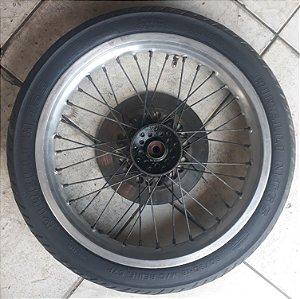 Roda dianteira completa para xt/tenere 600 motard com pneu pirelli MT65 90/90-18