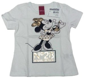 Camiseta Branca Disney Minnie