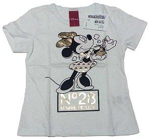 Camiseta Branca Disney Minnie