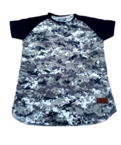 Camiseta Infanto Juvenil preto