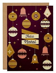 Cartão Enfeites Natal - mix