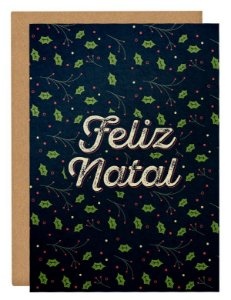 Cartão Feliz Natal natural