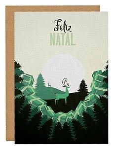 Cartão Natal luar - verde