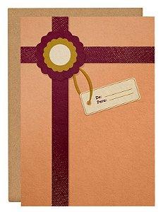 Cartão Presente para o Natal - rosa