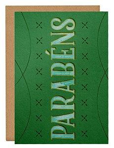 Cartão Parabéns -verde
