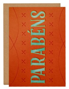 Cartão Parabéns -laranja