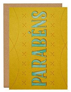 Cartão Parabéns - amarelo