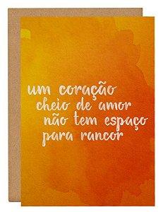 Cartão Coração de amor