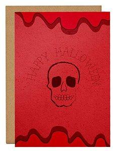 Cartão Happy Halloween caveira