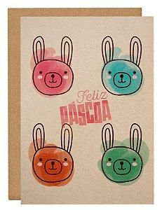 Cartão 4 coelhos