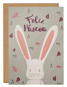 Cartão Coelho no outono