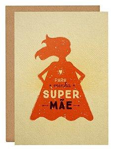 Cartão Super-mãe