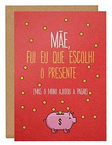 Cartão Eu escolhi o presente - rosa