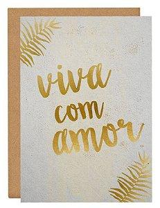 Cartão Viva com amor