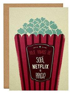 Cartão Sofá, Netflix e pipoca