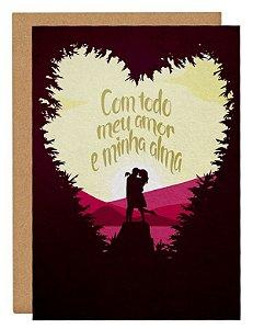 Cartão Amor e alma