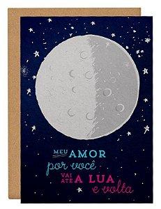 Cartão Amor até a lua