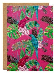Cartão Tropical papagaio