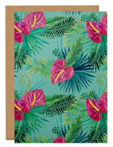 Cartão Tropical flor