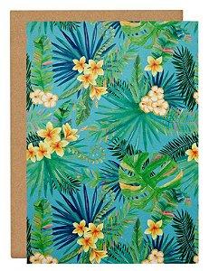 Cartão Tropical planta