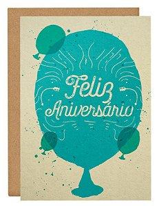 Cartão Balão de aniversário