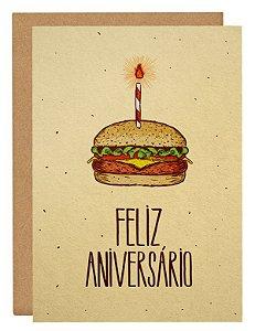 Cartão Bolo de hambúrguer