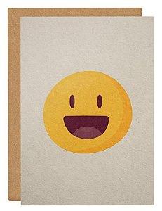 Cartão Emoji feliz