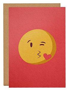 Cartão Emoji beijo