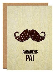 Cartão Pai bigode
