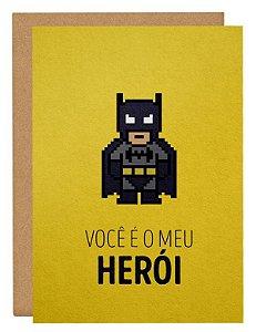 Cartão Pai herói