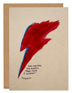 Cartão Bowie Hero