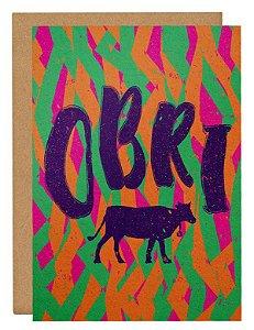 Cartão Obri - gado