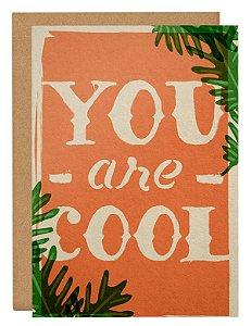Cartão You are cool - Laranja