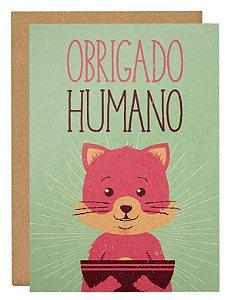 Cartão Obrigado humano