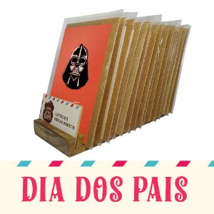 Kit Expositor de Balcão com 30 Cartões Comemorativos de Dia dos Pais