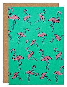 Cartão Flamingos