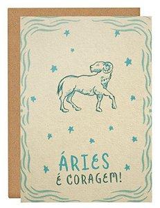 Cartão Horóscopo Áries