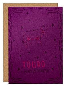 Cartão Horóscopo Touro