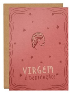 Cartão Horóscopo Virgem