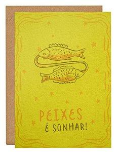 Cartão Horóscopo Peixes