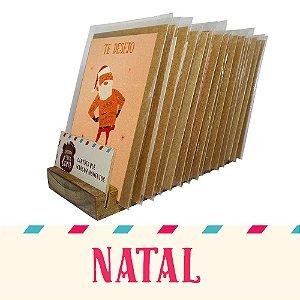 Kit Expositor de Balcão com 30 Cartões Comemorativos de Natal