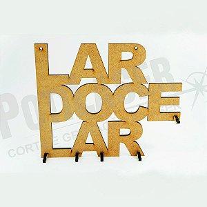 Porta Chaves em MDF - Lar Doce Lar