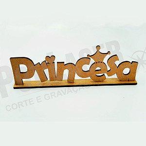 Nome Princesa em MDF