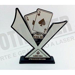 Troféu Poker em MDF